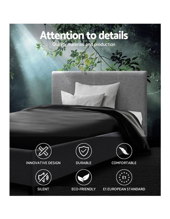 Single Size Bed Frame Base Mattress Platform Fabric Wooden Grey NEO image 3