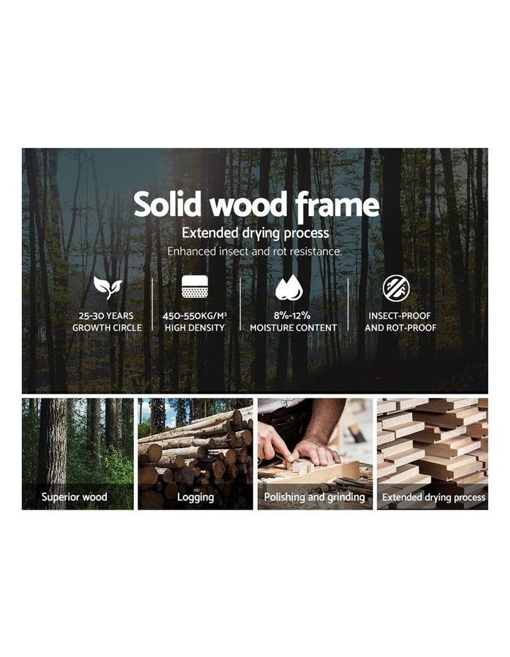Single Size Bed Frame Base Mattress Platform Fabric Wooden Grey NEO image 4