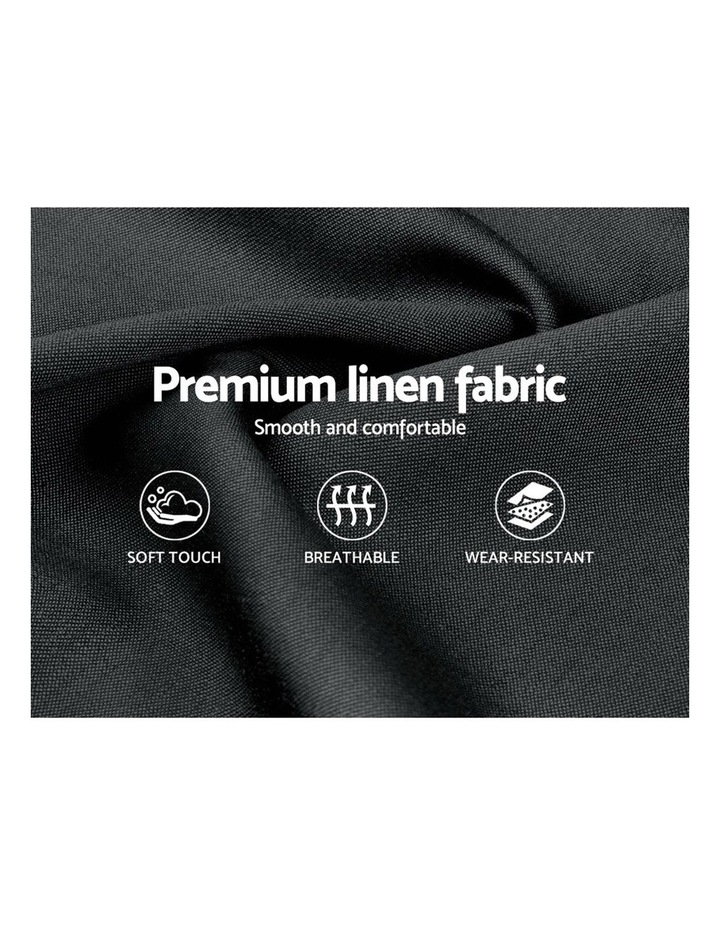 King Size Bed Frame Base Mattress Platform Fabric Wooden Charcoal PIER image 5