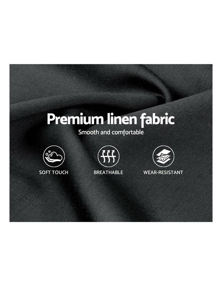 Queen Size Bed Frame Base Mattress Platform Fabric Wooden Charcoal PIER image 5