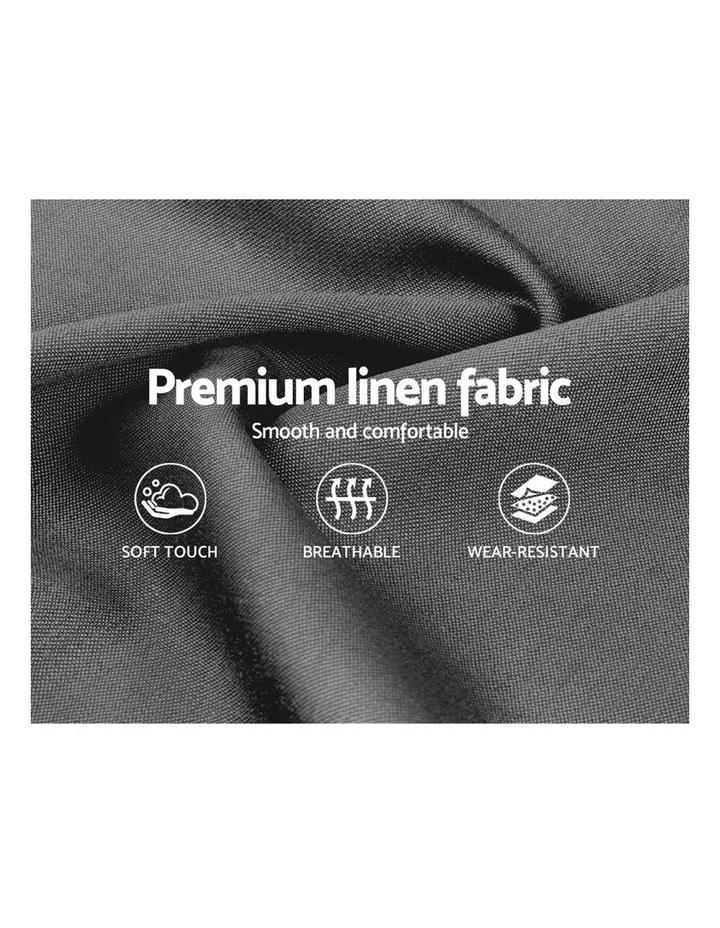 King Single Size Bed Frame Base Mattress Fabric Wooden Grey VANKE image 6