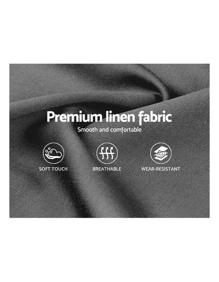 Single Size Bed Frame Base Mattress Platform Fabric Wooden Grey VAN image 6