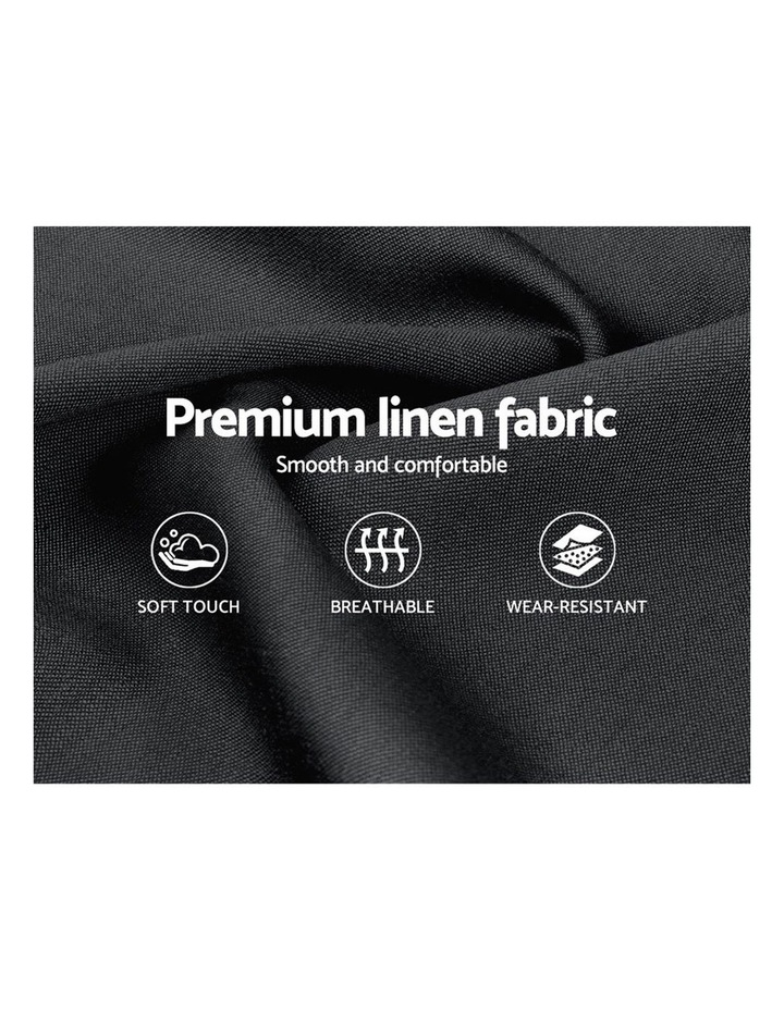 Double Full Size Bed Frame Base Mattress Platform Fabric Wooden Charcoal VAN image 6