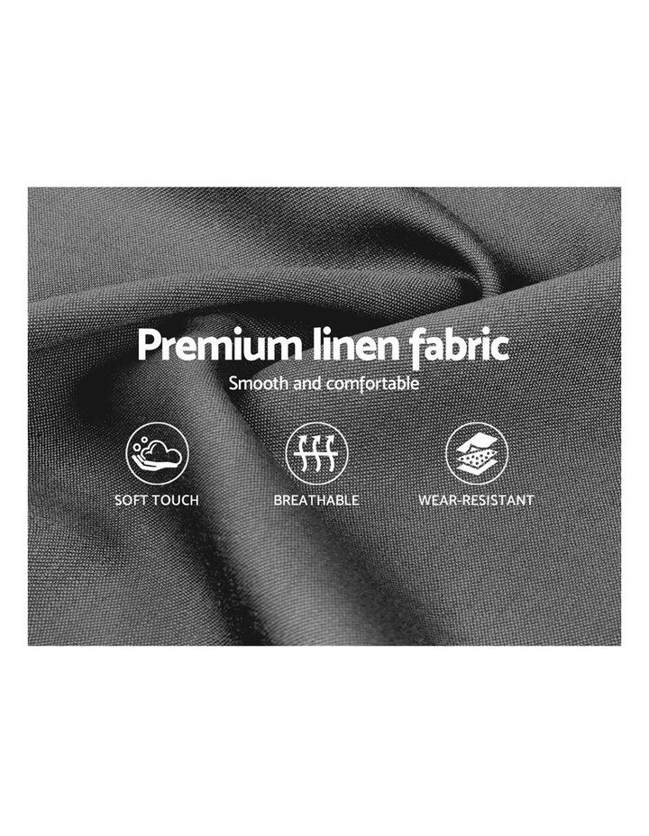 King Size Bed Frame Base Mattress Platform Fabric Wooden Grey VAN image 6