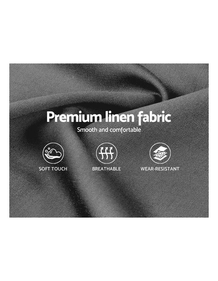 Double Size Wooden Upholstered Bed Frame Headborad - Grey image 5