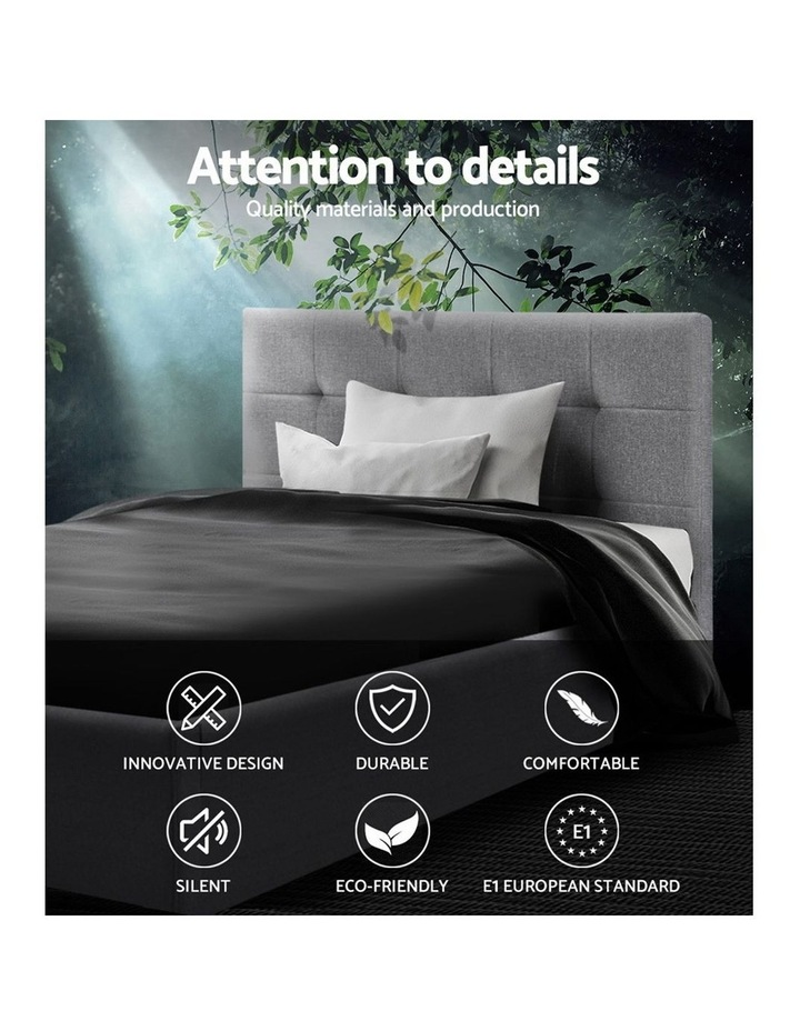King Single Size Bed Frame Base Mattress Platform Grey Fabric Wooden SOHO image 4