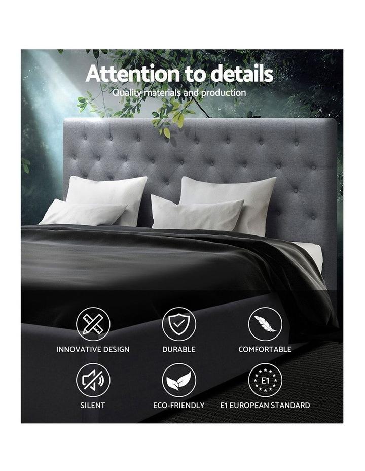 King Size Gas Lift Bed Frame Base With Storage Mattress Grey Fabric VILA image 3