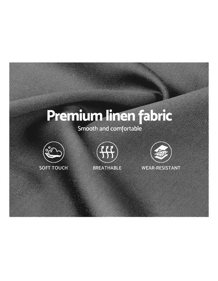 King Size Gas Lift Bed Frame Base With Storage Mattress Grey Fabric VILA image 6