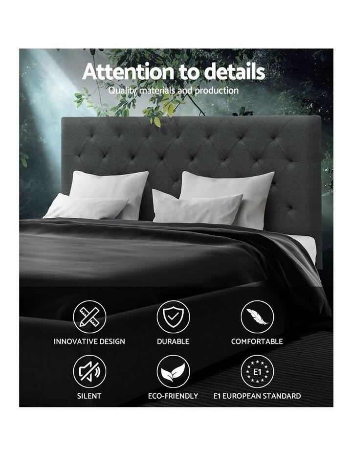 Queen Size Bed Frame Base Mattress Platform Fabric Wooden Charcoal VAN image 3