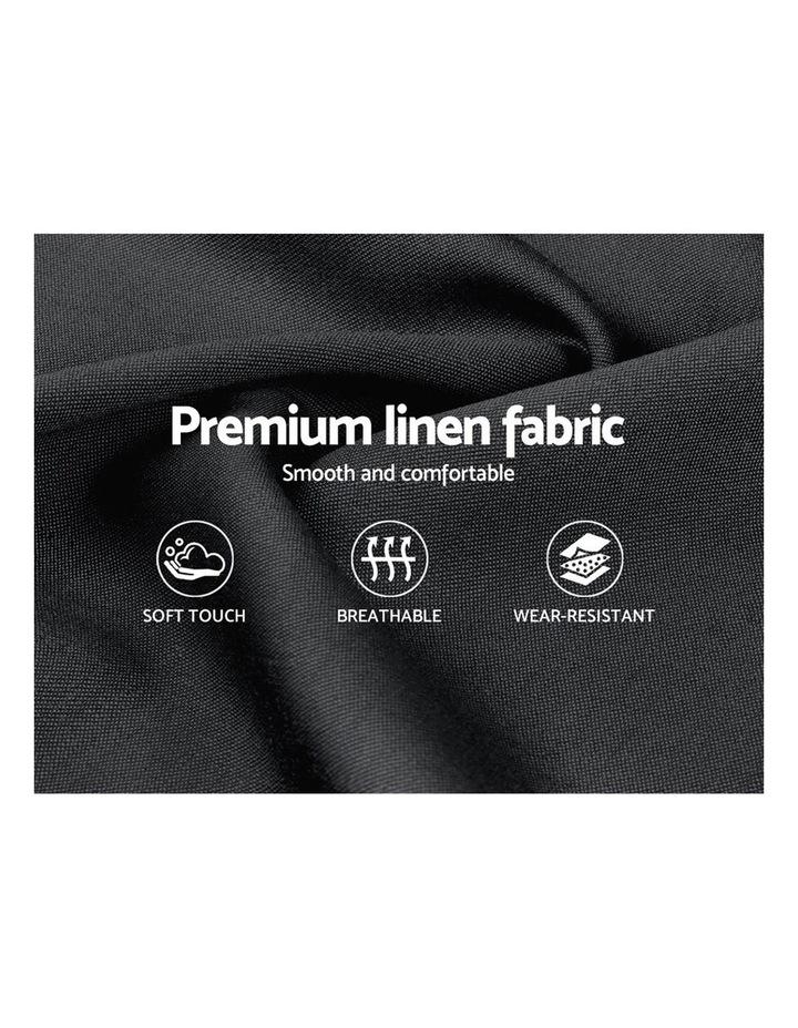 Queen Size Bed Frame Base Mattress Platform Fabric Wooden Charcoal VAN image 6