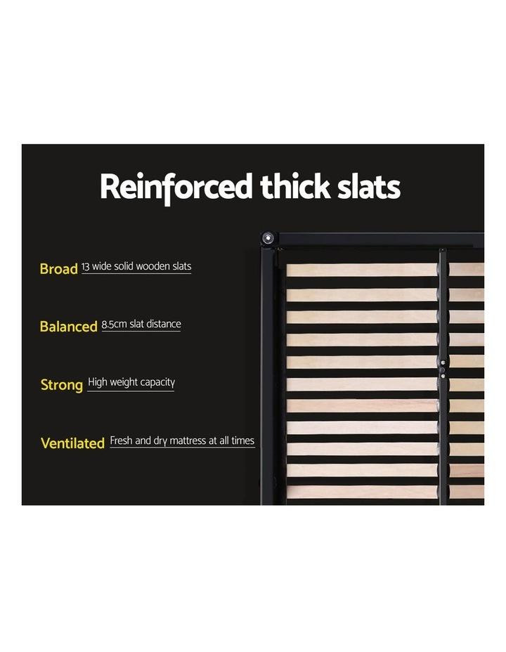 King Single Size Gas Lift Bed Frame Base Mattress Platform Fabric Wooden Grey WARE image 6