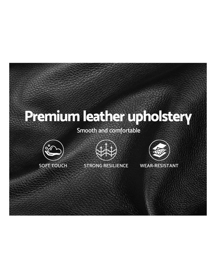 Queen Size Gas Lift Bed Frame Base Mattress Platform Leather Wooden Black WARE image 6
