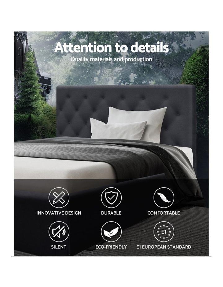 King Single Size Bed Base Frame Mattress Platform Fabric Wooden TOMI image 3