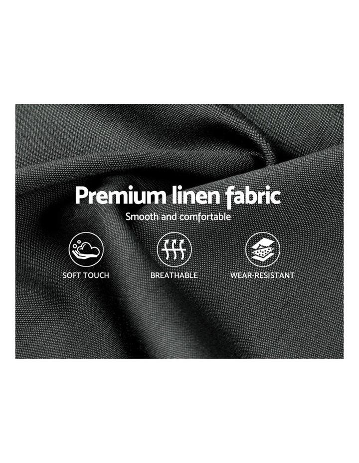 King Single Size Bed Base Frame Mattress Platform Fabric Wooden TOMI image 6