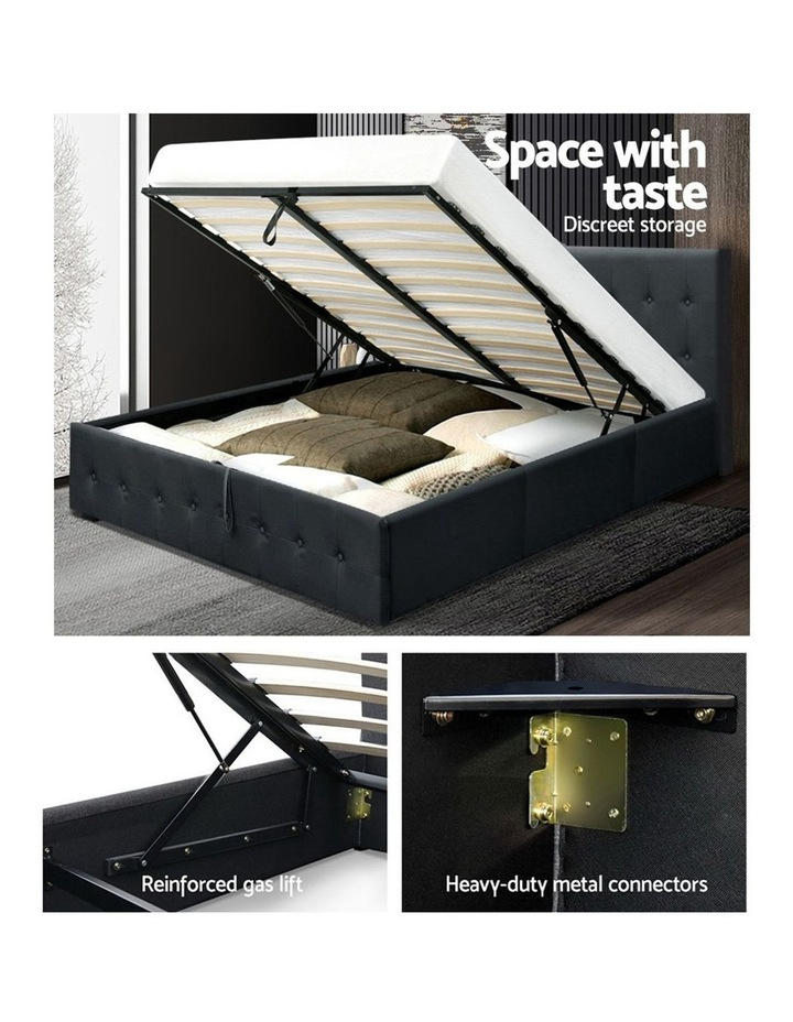 Gas Lift Queen Bed Frame -Charcoal image 4