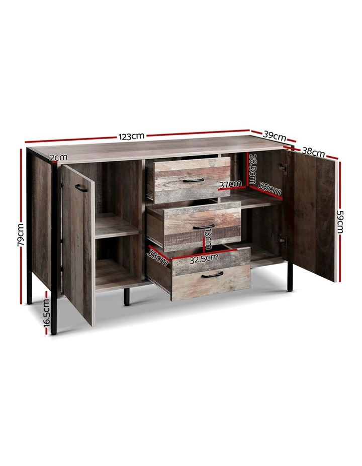 Buffet Sideboard Storage Cabinet Kitchen Hallway Table Industrial Rustic image 2