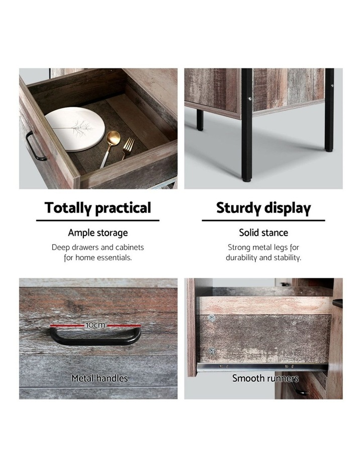Buffet Sideboard Storage Cabinet Kitchen Hallway Table Industrial Rustic image 6
