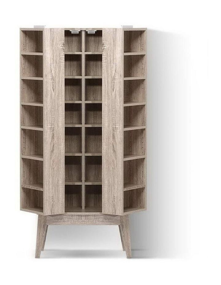 CD/DVD Media Storage Display Shelf Folding Cabinet Bookshelf Bluray Rack Oak image 3