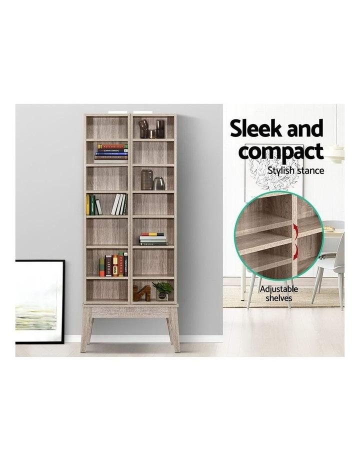 CD/DVD Media Storage Display Shelf Folding Cabinet Bookshelf Bluray Rack Oak image 4