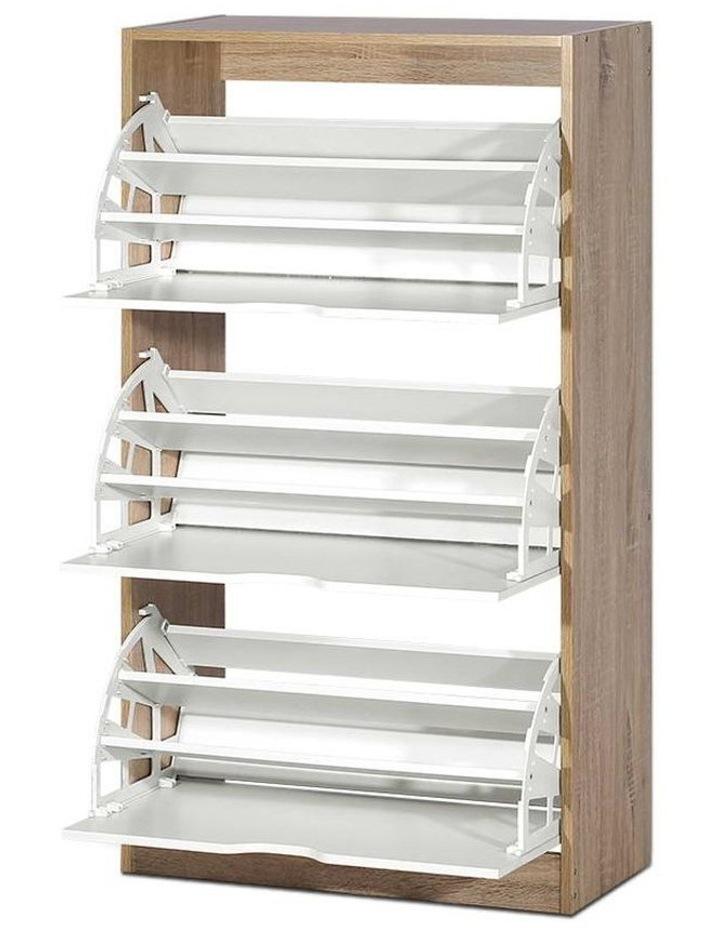 36 Pairs Shoe Cabinet Rack Organiser Storage Shelf Wooden image 1