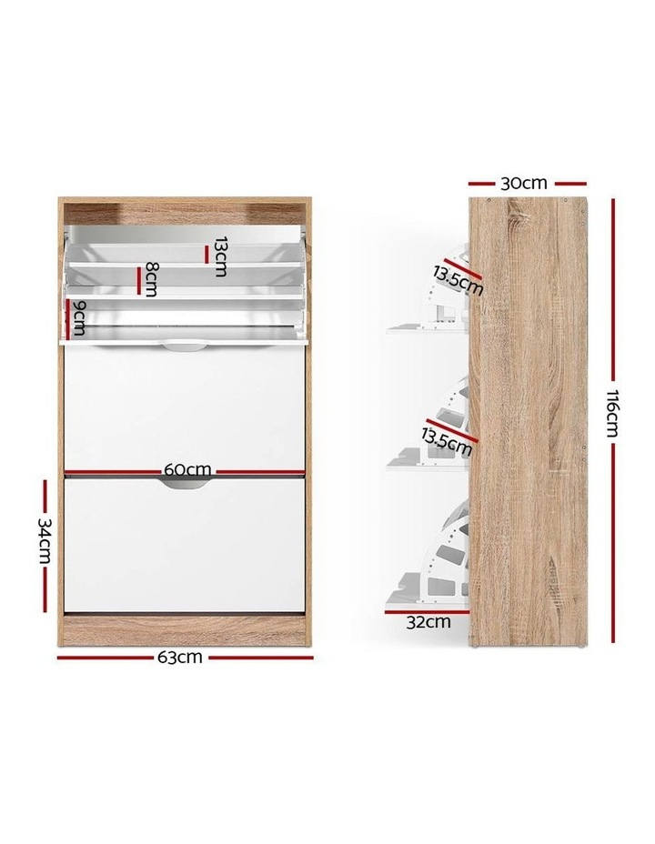36 Pairs Shoe Cabinet Rack Organiser Storage Shelf Wooden image 2