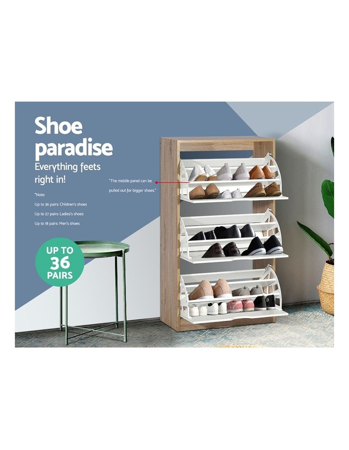 36 Pairs Shoe Cabinet Rack Organiser Storage Shelf Wooden image 5