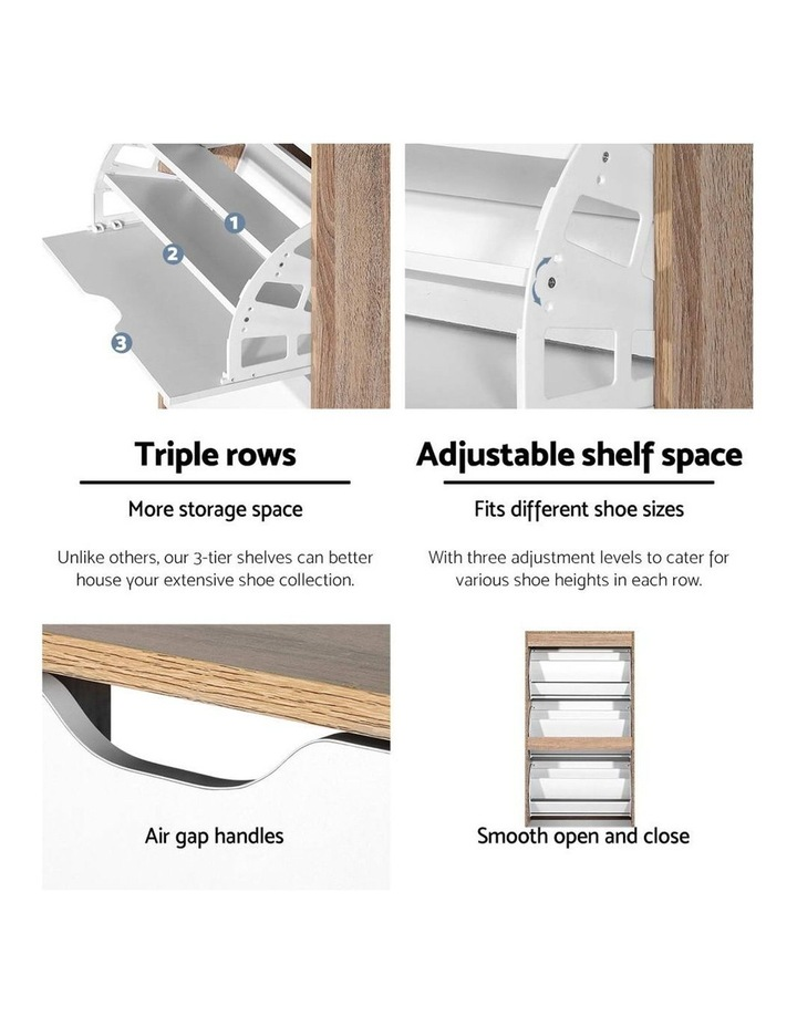 36 Pairs Shoe Cabinet Rack Organiser Storage Shelf Wooden image 6
