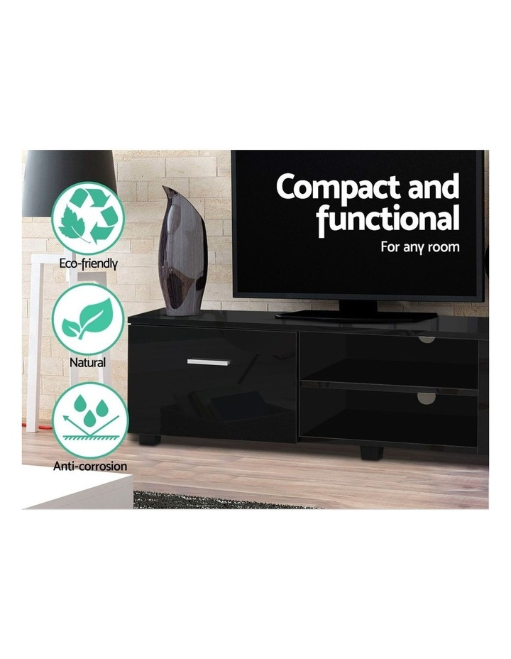 140cm High Gloss TV Cabinet Stand Entertainment Unit Storage Shelf Black image 5