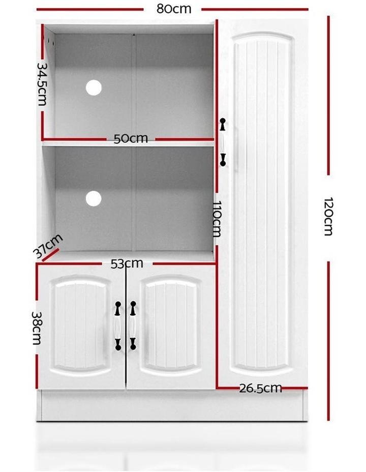 Buffet Sideboard Cabinet Storage Cupboard Doors White Kitchen Hallway image 2