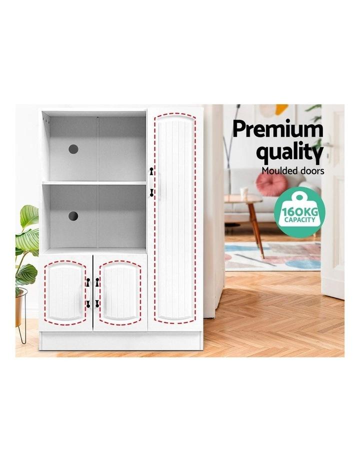 Buffet Sideboard Cabinet Storage Cupboard Doors White Kitchen Hallway image 4
