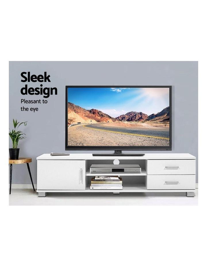 120cm TV Stand Entertainment Unit Storage Cabinet Drawers Shelf White image 3