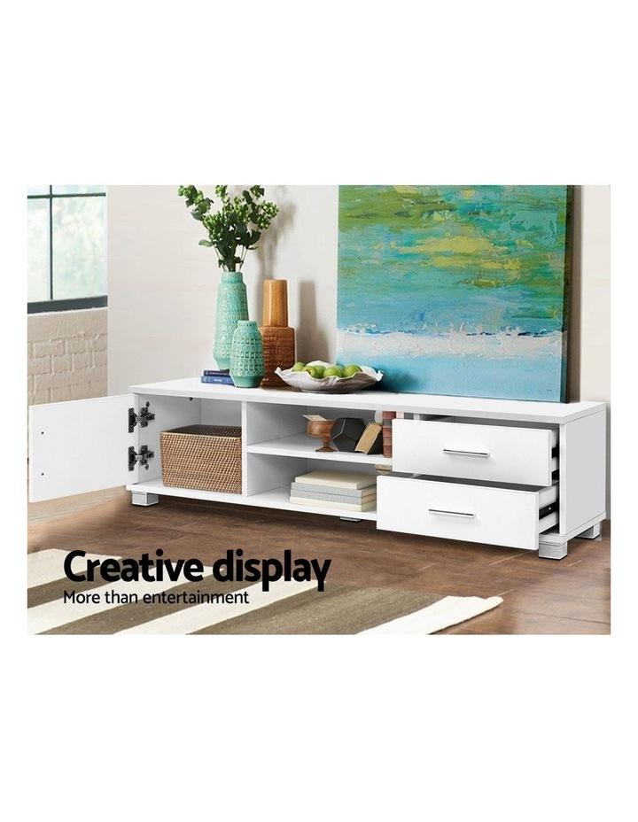 120cm TV Stand Entertainment Unit Storage Cabinet Drawers Shelf White image 4