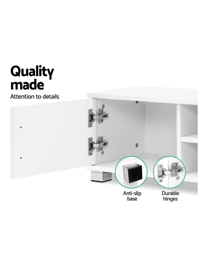120cm TV Stand Entertainment Unit Storage Cabinet Drawers Shelf White image 5