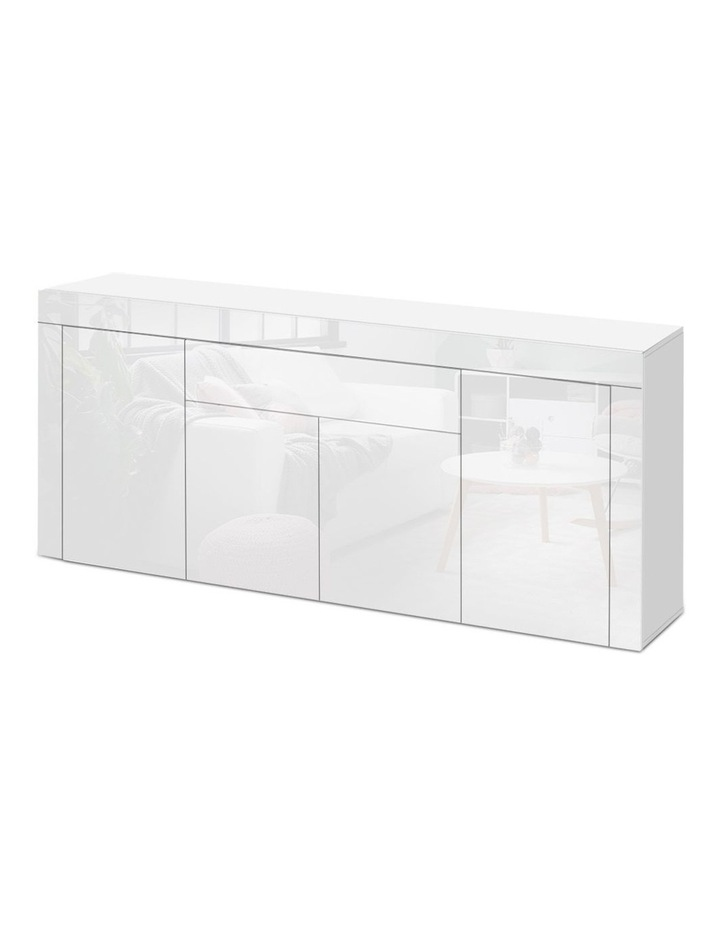 Buffet Sideboard Cabinet High Gloss Storage 4 Doors Cupboard Hall White image 1
