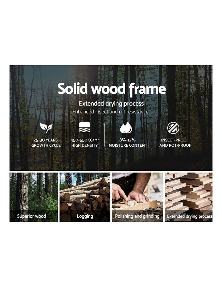 Double Size Bed Frame Base Mattress Platform Black Leather Wooden FLIO image 4