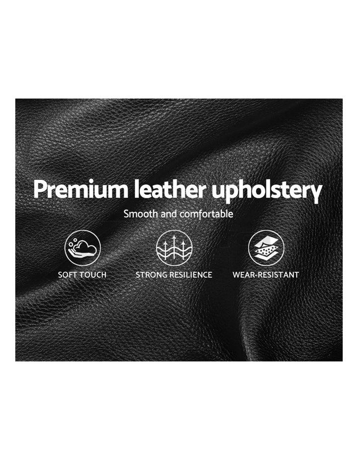 Double Size Bed Frame Base Mattress Platform Black Leather Wooden FLIO image 6