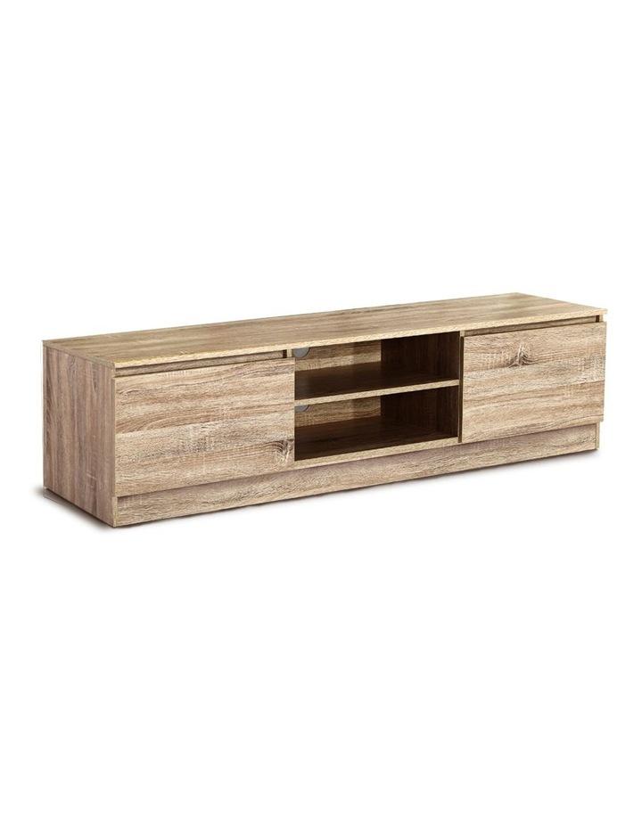 160CM TV Stand Entertainment Unit Lowline Storage Cabinet Wooden image 1