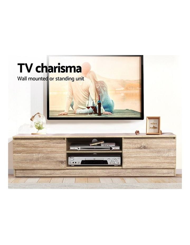 160CM TV Stand Entertainment Unit Lowline Storage Cabinet Wooden image 3