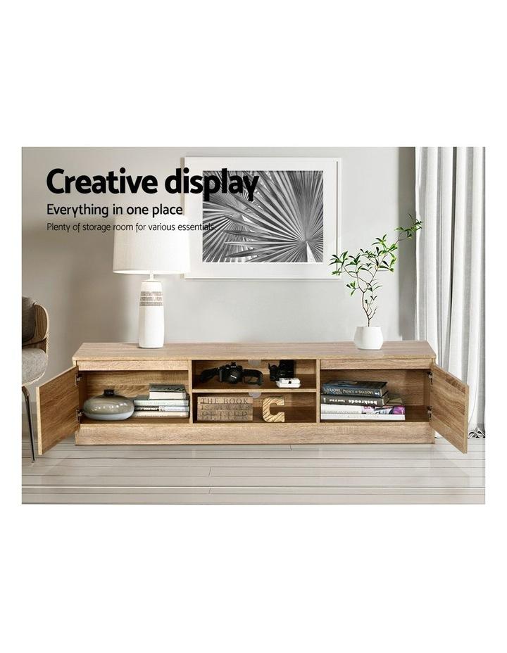 160CM TV Stand Entertainment Unit Lowline Storage Cabinet Wooden image 4
