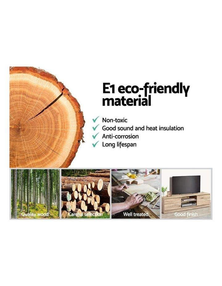 160CM TV Stand Entertainment Unit Lowline Storage Cabinet Wooden image 5