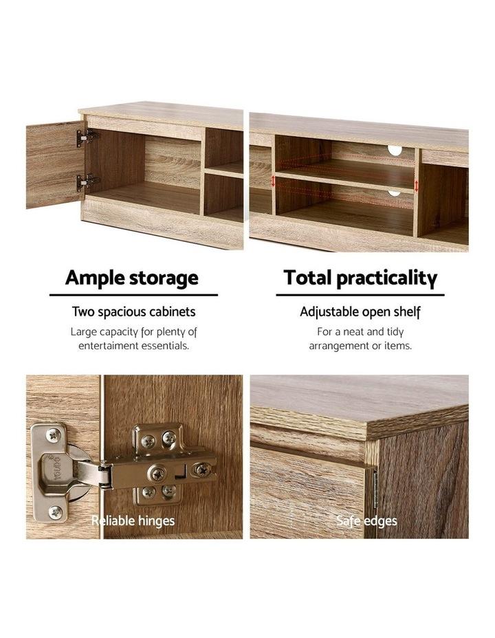 160CM TV Stand Entertainment Unit Lowline Storage Cabinet Wooden image 6