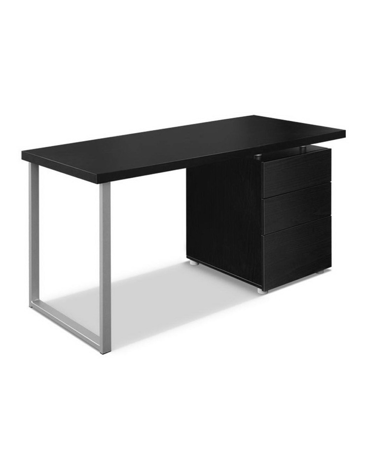 Metal Desk with 3 Drawers - Black image 1