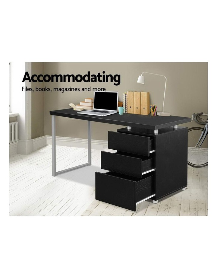 Metal Desk with 3 Drawers - Black image 5