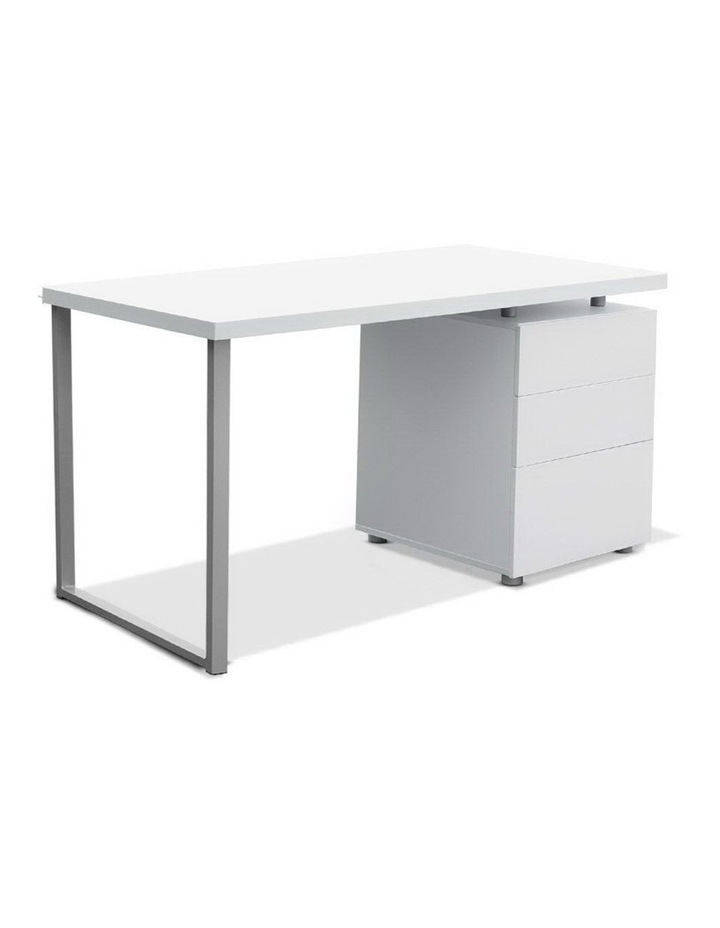 Office Computer Desk Study Table Home Metal Student Cabinet White image 1