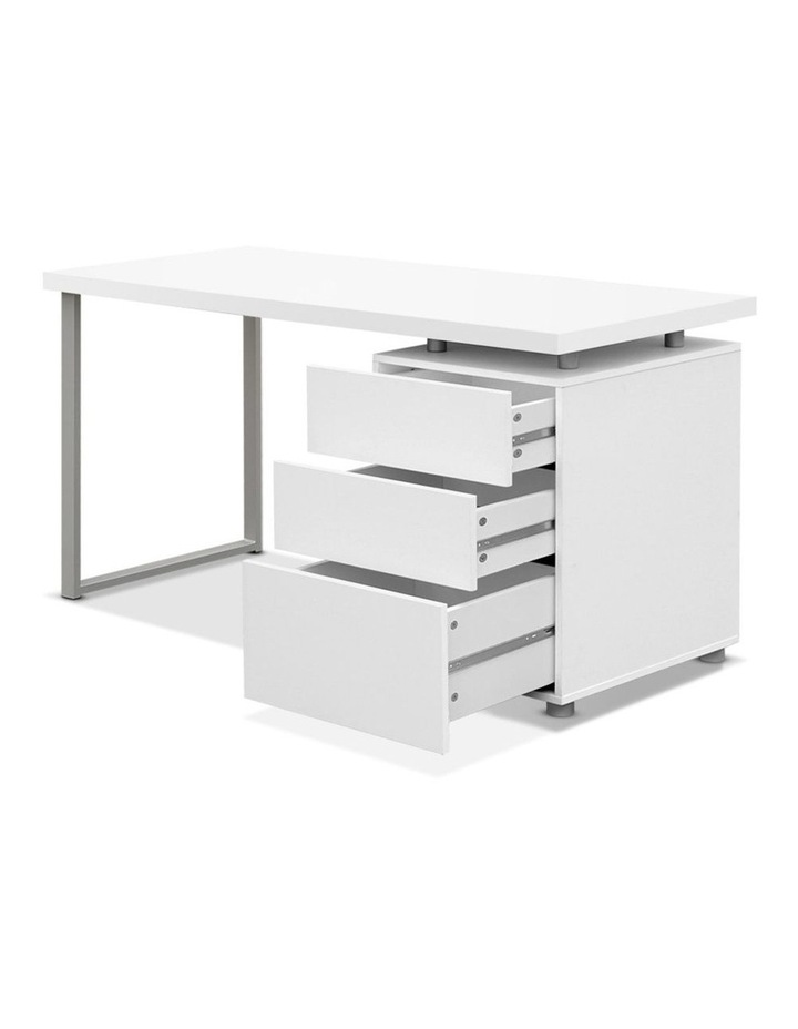Office Computer Desk Study Table Home Metal Student Cabinet White image 3
