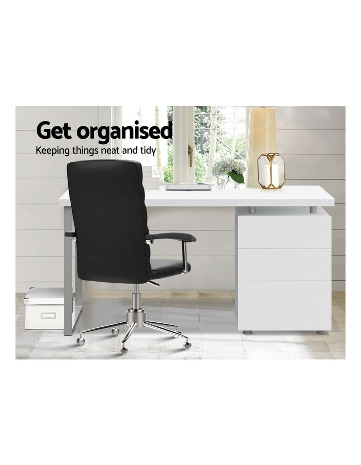 Office Computer Desk Study Table Home Metal Student Cabinet White image 4