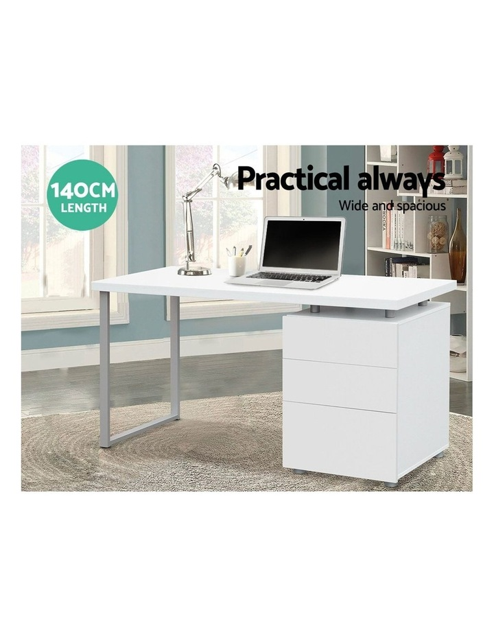 Office Computer Desk Study Table Home Metal Student Cabinet White image 5