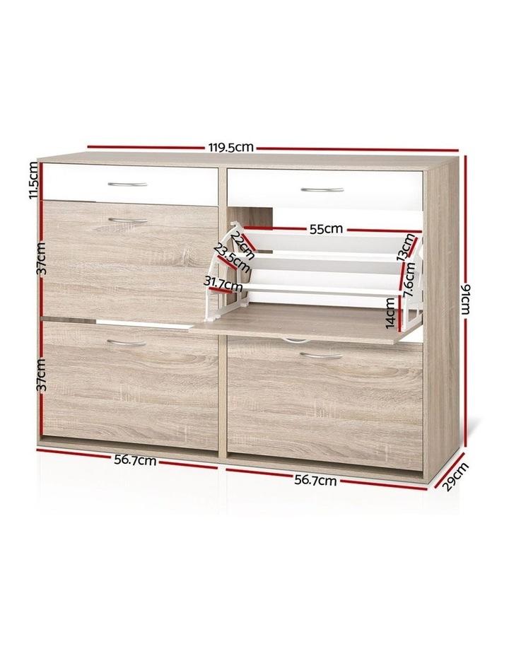 Shoe Cabinet Shoes Storage Rack Organiser Wooden Shelf Drawer 36 Pairs image 2