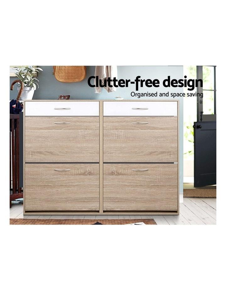 Shoe Cabinet Shoes Storage Rack Organiser Wooden Shelf Drawer 36 Pairs image 3