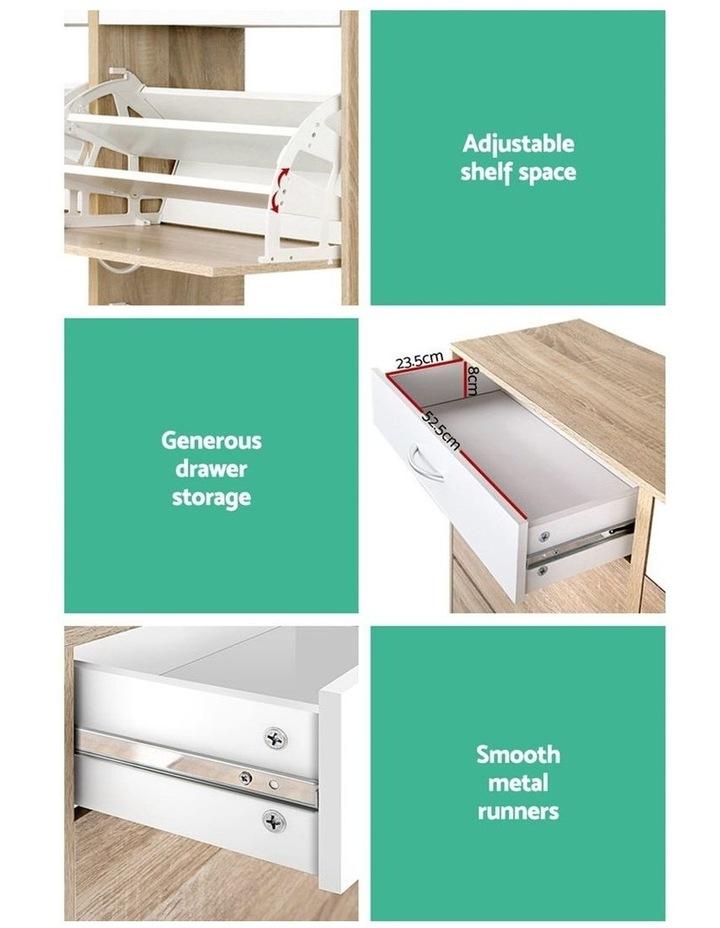Shoe Cabinet Shoes Storage Rack Organiser Wooden Shelf Drawer 36 Pairs image 6